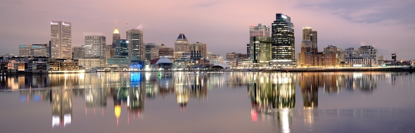 Baltimore Panoramic Skyline Master 12x36 B