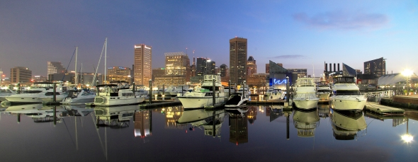 baltimore skyline dawn